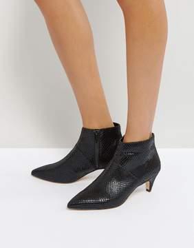 Office Acid Kitten Heel Boots