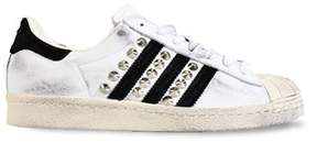 adidas Women's White Leather Sneakers.
