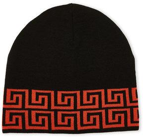 Versace Greek Key Print Knit Hat