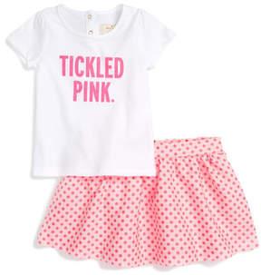 Kate Spade Tickled Pink Tee & Skirt Set (Baby Girls)