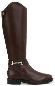 Tod's Women's Brown Leather Boots.