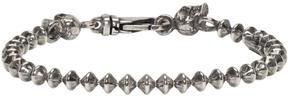 Emanuele Bicocchi Silver Throttle Chain Skull Bracelet