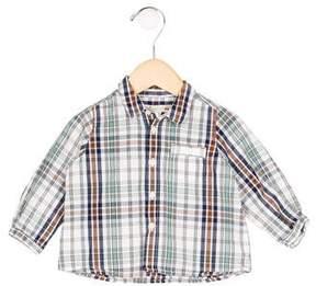 Bonpoint Plaid Button-Up Shirt