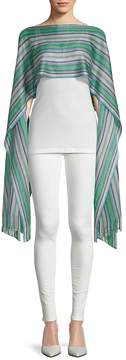 Missoni Women's Fringe-Trimmed Stripe Cropped Caftan