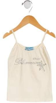 Miss Blumarine Girls' Embellished Sleeveless Top