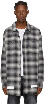Off-White Black and White Diagonal Check Shirt