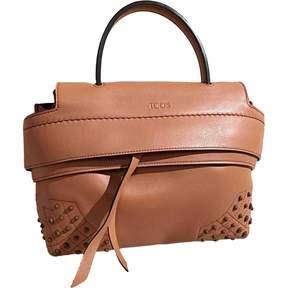 Tod's camel Leather Handbag