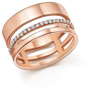 Bloomingdale's Diamond Cigar Band in 14K Rose Gold, .20 ct. t.w. - 100% Exclusive