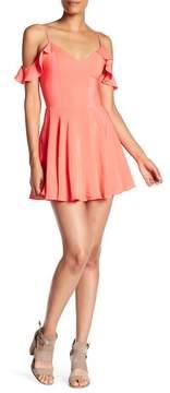 Amanda Uprichard Tate Cold Shoulder Silk Dress