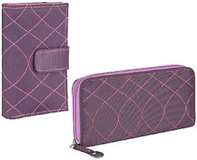 Travelon RFID Embroidered Wallet Set