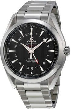 Omega Seamaster Aqua Terra GMT Automatic Black Dial Stainless Steel Men's Watch