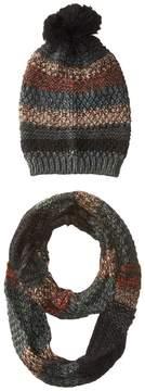 Steve Madden Night Wanderer Mixed Yarn Two-Piece Set Scarves