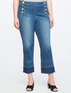 ELOQUII Nautical Cropped Jeans