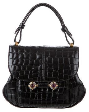 Roberto Cavalli Embossed Handle Bag