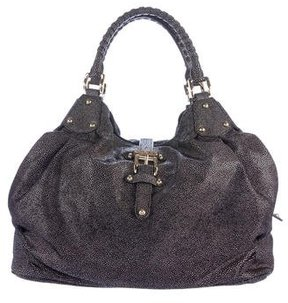 Halston Heritage Embossed Leather Hobo