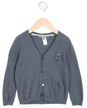 Bonpoint Boys' V-Neck Long Sleeve Cardigan