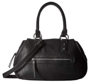 Jessica Simpson Womens Marley Faux Leather Convertible Satchel Handbag
