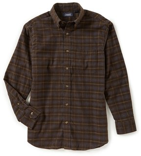 Roundtree & Yorke Casuals Long-Sleeve Plaid Corduroy Sportshirt