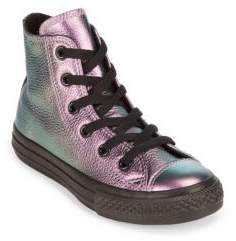 Converse Kid's Iridescent Leather Sneakers