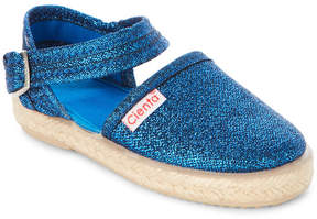 Cienta Toddler/Kids Girls) Blue Glitter Espadrille Flats