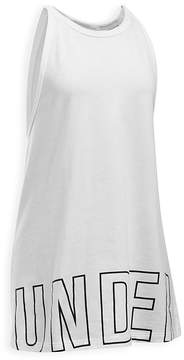 Under Armour Girls' Graphic Logo Tank - Big Kid