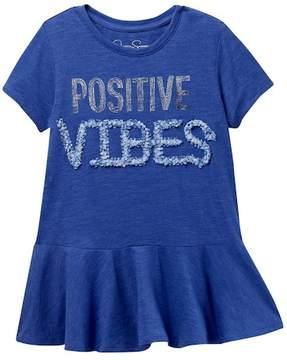 Jessica Simpson Zola Positive Vibes Shirt (Big Girls)
