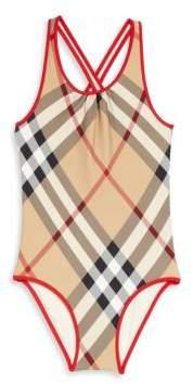 Burberry Little Girl's & Girl's One-Piece Swimsuit