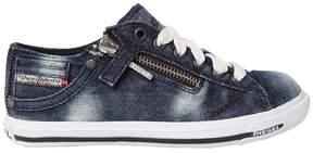 Diesel Washed Denim Sneakers