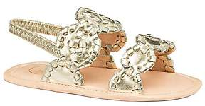 Jack Rogers Girls' Medallion Metallic Slingback Sandals - Baby