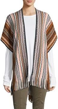 Missoni Women's Wool Intarsia Fringe Trimmed Cape