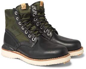 Visvim Folk Canvas-Panelled Leather Boots