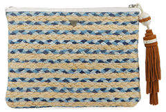 Sam Edelman Mirabel Multicolor Woven Clutch Bag