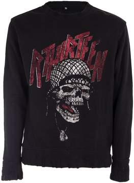 R 13 Graphic Skull Sweatshirt