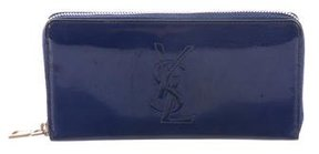 Saint Laurent Vernice Diamond Classique Wallet - BLUE - STYLE
