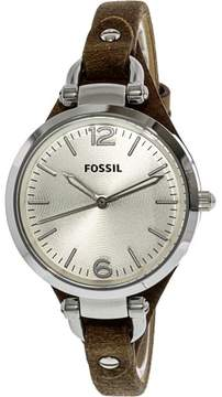Fossil Women's ES3060 Georgia Leather Watch, 32mm