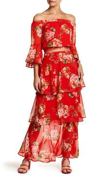 Flying Tomato Tiered Floral Maxi Skirt