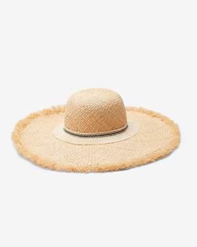 Express Metallic Border Floppy Sun Hat