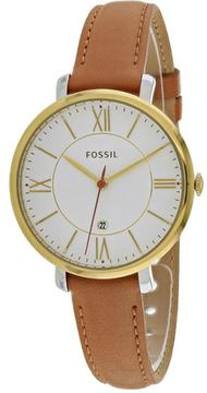 Fossil Jacqueline Collection ES3737 Women's Leather Strap Watch