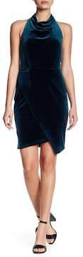 Betsey Johnson Velvet Halter Dress