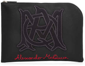 Alexander McQueen Zipped Cotton Pouch
