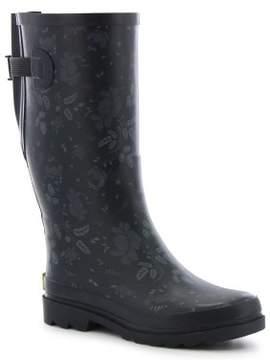 Western Chief Women's Feminine Floral Vari-Fit Wide Calf Rain Boots