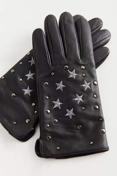 Urban Outfitters Star Embellished Leather Glove