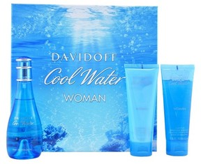 Cool Water by Zino Davidoff Women's Perfume - 3 Piece Gift Set