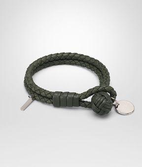 Bottega Veneta Bracelet In Moss Intrecciato Nappa Leather