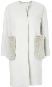 ESTNATION fur pockets coat