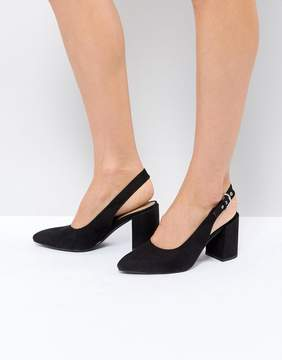 London Rebel High Vamp Sling Back Heel Shoe