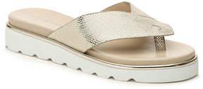 Donald J Pliner Women's Leather Metallic Sandal
