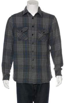 Wings + Horns Wool Plaid Flannel Shirt