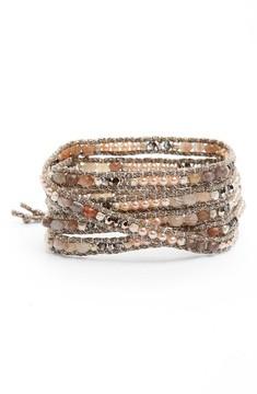 Chan Luu Women's Agate & Freshwater Pearl Wrap Bracelet