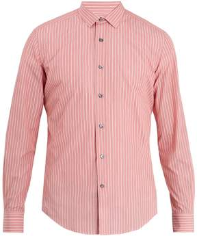 Lanvin Banker striped cotton-poplin shirt